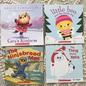Lot group set Bundle 4 winter elementary books